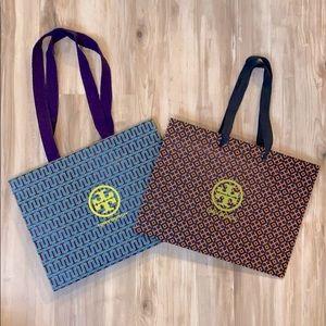 ❤️ Two Tory Burch logo shopping bags